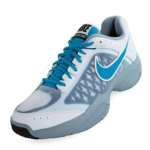Men`s Air Cage Court Tennis Shoes White and Dove Gray