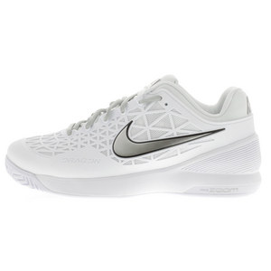 NIKE WOMENS ZOOM CAGE 2 TNS SHOES WH/PLAT