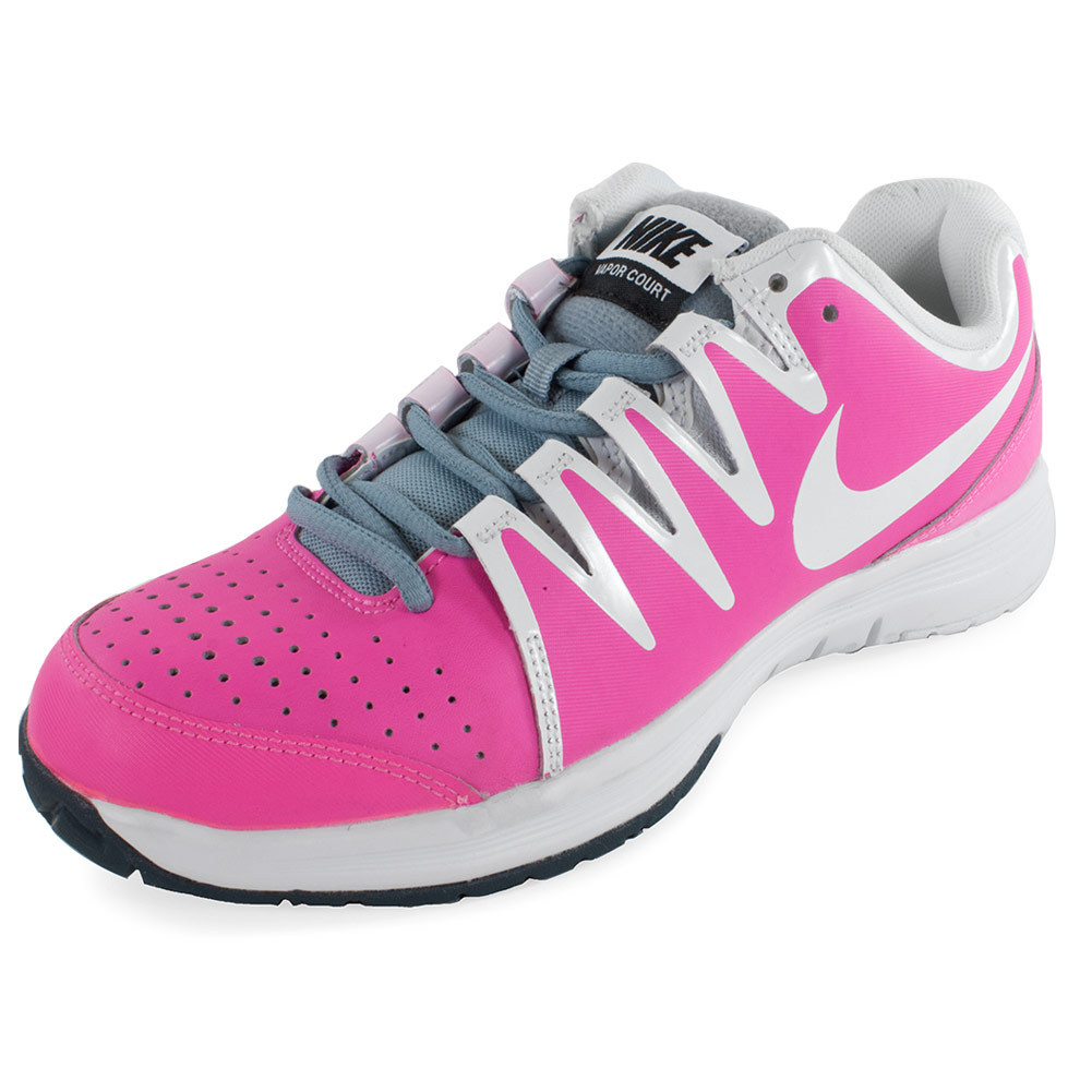 NIKE WOMENS VAPOR COURT TNS SHOES PK/GY