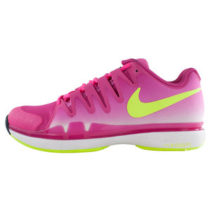 Women`s Zoom Vapor 9.5 Tennis Shoes Hot Pink and Black