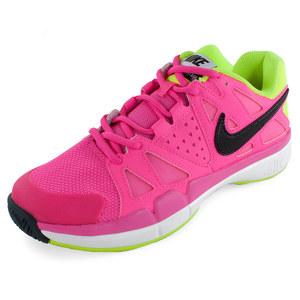 Women`s Air Vapor Advantage Tennis Shoes Pink Pow and Volt