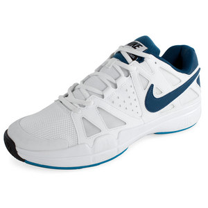 NIKE MENS AIR VAPOR ADVTG TNS SHOES WHT/BL