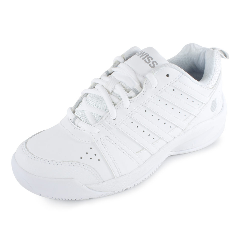 k swiss s vendy ii tennis shoes white and silver