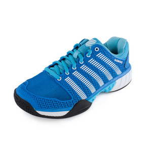 Women`s HyperCourt Express Tennis Shoes Blue Aster and White