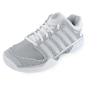 Women`s HyperCourt Express Tennis Shoes Glacier Gray and White