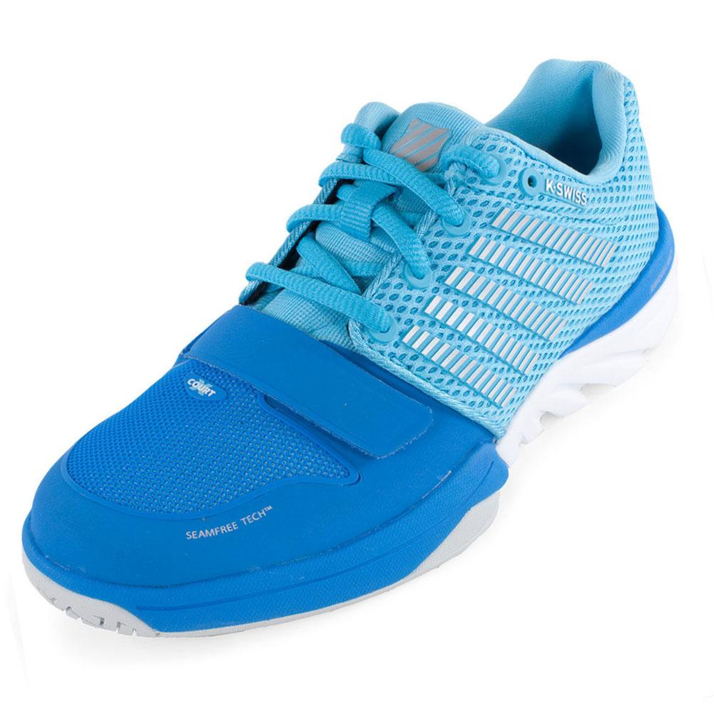 Tennis Express | K-SWISS Women`s X Court Tennis Shoes Blue Aster ...