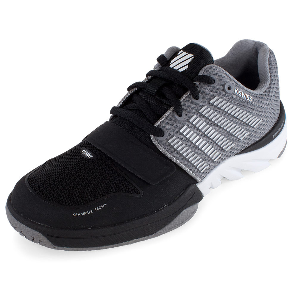 k swiss s x court tennis shoes black and stingray