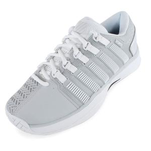 Women`s HyperCourt Tennis Shoes Glacier Gray and White