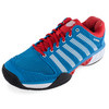 K-SWISS Men`s HyperCourt Express Tennis Shoes Methyl Blue and Fiery Red