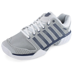 Men`s HyperCourt Express Tennis Shoes Glacier Gray and White