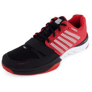 Men`s X Court Tennis Shoes Black and Fiery Red