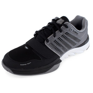 K-SWISS MENS X COURT TENNIS SHOES BK/STRNGRY