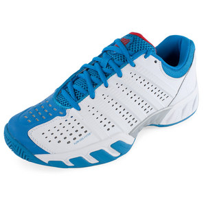 Men`s BigShot Light 2.5 Tennis Shoes White and Methyl Blue