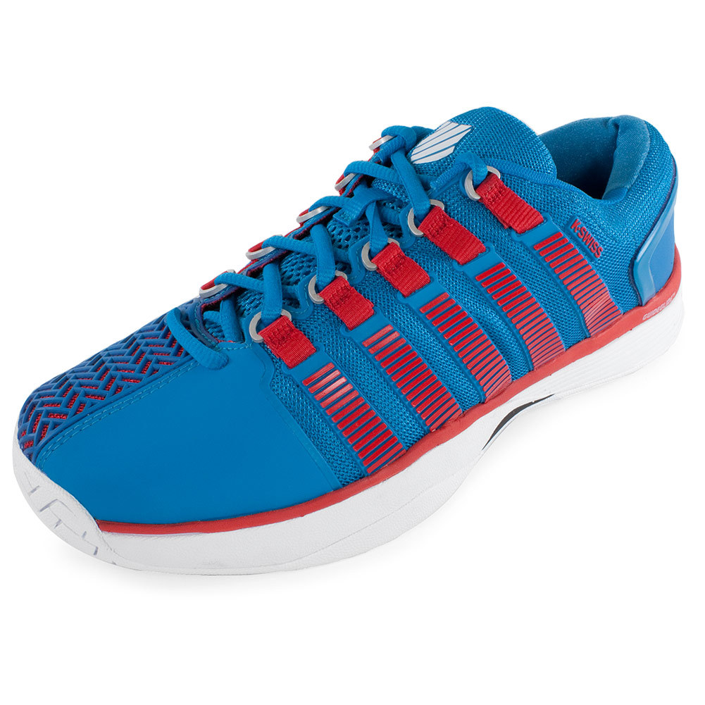 Men's Hypercourt Tennis Shoes Methyl Blue And Fiery Red