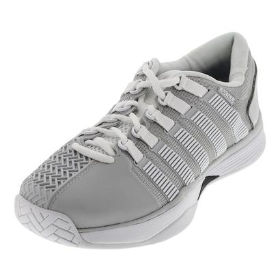 Men`s HyperCourt Tennis Shoes Glacier Gray and White