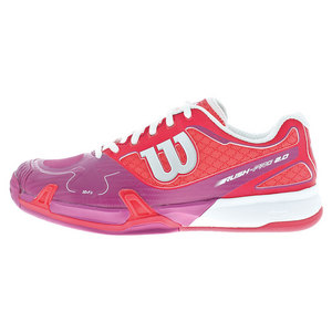 WILSON WOMENS RUSH PRO 2.0 TNS SHOES N RD/PK