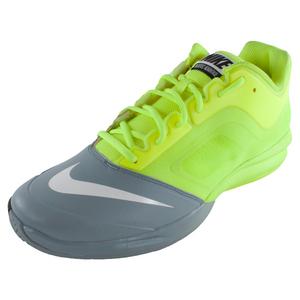 Men`s Dual Fusion Ballistec Advantage Tennis Shoes Volt and Dove Gray