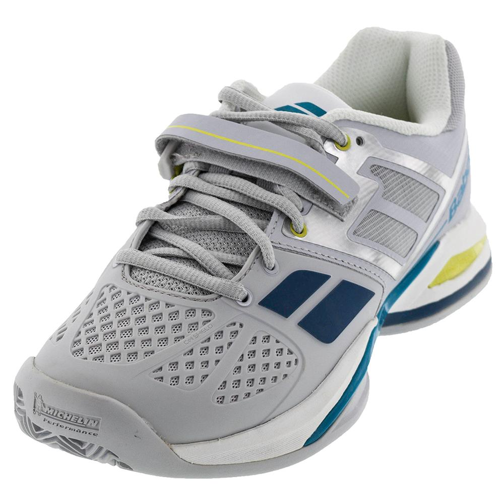 Men's Propulse Bpm All Court Tennis Shoes Gray And Blue