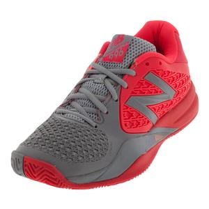 Women`s 996v2 B Width Tennis Shoes Pink and Dark Gray