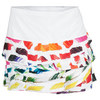 LUCKY IN LOVE Women`s Brush Strokes Tennis Skirt Print