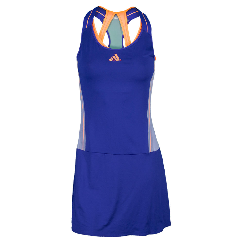 adidas Women`s Adizero Tennis Dress Night Flash and Flash Orange