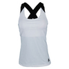 ADIDAS Women`s Response Tennis Tank White and Black