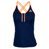 ADIDAS Women`s All Premium Strappy Tennis Tank Night Sky