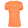 ADIDAS Women`s All Premium Tennis Tee Flash Orange
