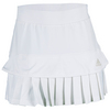ADIDAS Women`s All Premium Tennis Skort White and Pearl Metallic