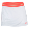ADIDAS Women`s Adizero Tennis Skort White and Light Flash Red