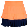 ADIDAS Women`s All Premium Tennis Skort Flash Orange and Night Sky