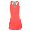 ADIDAS Women`s Adizero Tennis Dress Flash Red and Light Flash Green