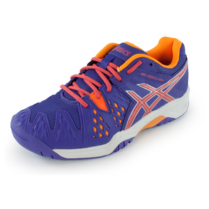 ASICS JUNIORS GEL-RESOLUTN 6 TNS SHOES LAV/COR