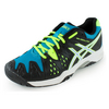 ASICS Juniors` Gel-Resolution 6 Tennis Shoes Onyx and White