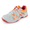 ASICS Juniors` Gel-Game 5 Tennis Shoes White and Hot Coral