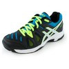 ASICS Juniors` Gel-Game 5 Tennis Shoes Onyx and Atomic Blue