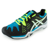 ASICS Men`s Gel-Resolution 6 Tennis Shoes Onyx and White