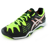 Men`s Gel-Resolution 6 Tennis Shoes Onxy and Flash Yellow by ASICS