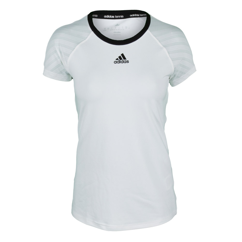 adidas Women`s Tennis Sequencials Core Tee White