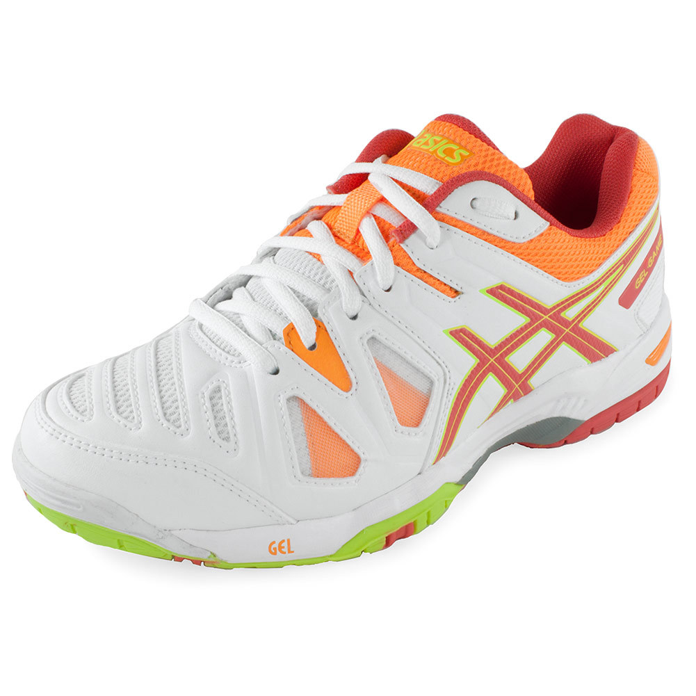 Women's Gel- Game 5 Tennis Shoes White And Hot Coral