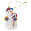 CLARKE SNOWMAN TENNIS ORNAMENT