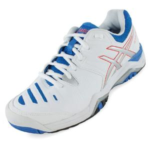 Women`s Gel-Challenger 10 Tennis Shoes White and Powder Blue