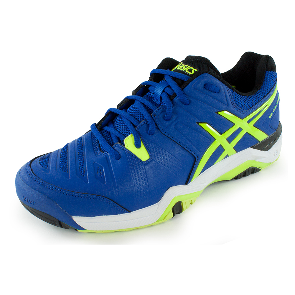 asics s gel challenger 10 tennis shoes blue and flash