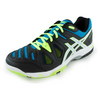 ASICS Men`s Gel-Game 5 Tennis Shoes Onyx and Atomic Blue