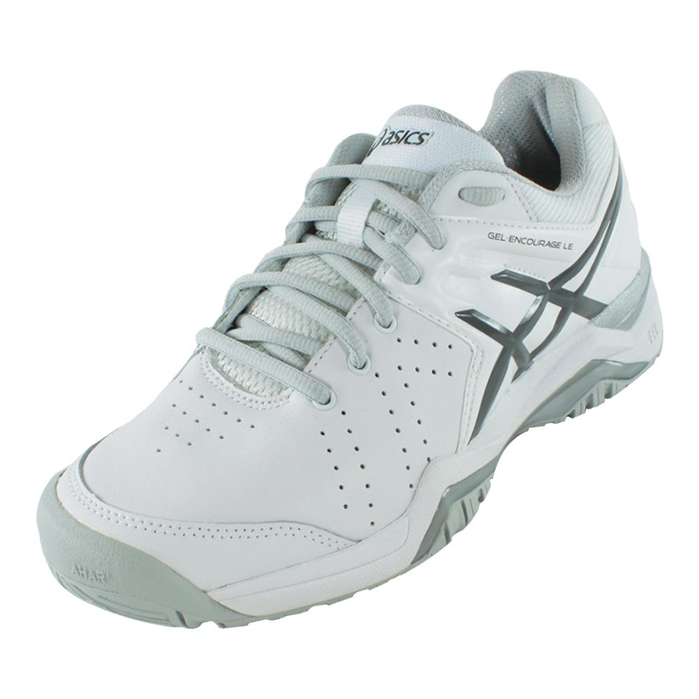Women's Gel- Encourage Le Tennis Shoes White And Silver