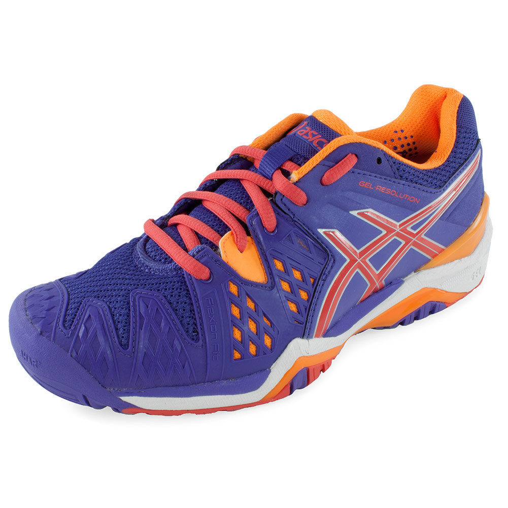 ASICS ASICS Women's Gel- Resolution 6 Tennis Shoes Lavender And Hot Coral