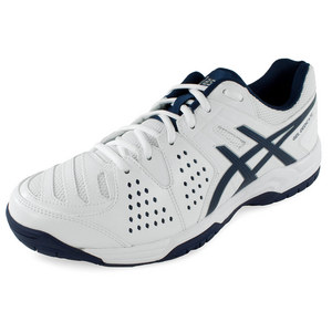 Men`s Gel-Dedicate 4 Tennis Shoes White and Navy