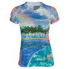 LUCKY IN LOVE Women`s Island Tennis Tee Print