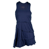 VICKIE BROWN Women`s Peasant Tennis Dress Navy
