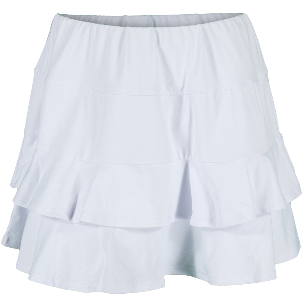 Women's Doubles Tennis Skort White